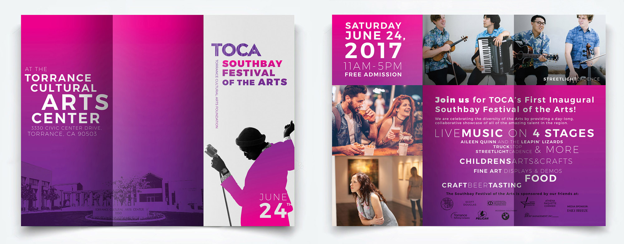 Brochure for TOCA Southbay Festival of the Arts